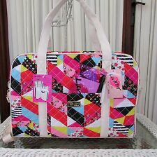 Luv Betsey Johnson Patchwork Weekender XL Travel Tote Bag NWT