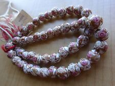 Vtg Antique Tiny  Wedding Cake VENETIAN Murano Glass Beads 50 pc 4 Necklace
