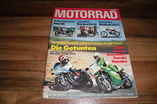 das MOTORRAD vom 22.2.1978 -- Doppeltest: MOTO GUZZI V35 / 50 + HONDA CBX