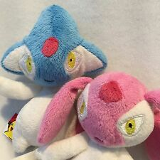 Azelf & Mesprite Plush Pokemon Set - Official - by Jakks Pacific RARE