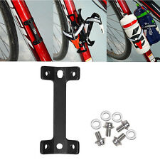 Durable Bike Bicycle Handlebar Water Bottle Holder Cages Adapter Fixed 2 In 1