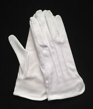 "White Cotton Gloves Slip-On ""Sure Grip"" Medium (Dozen)"
