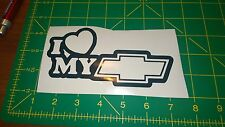 I Love My Chevy -  Vinyl Decal for Jeep, Car, or Truck