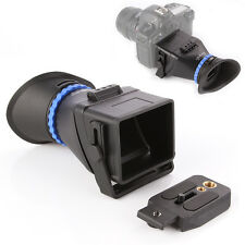 """Universal 3.0X LCD Viewfinder For 3""""-3.2"""" CANON Nikon Sony Olympus DSLR Cameras"""