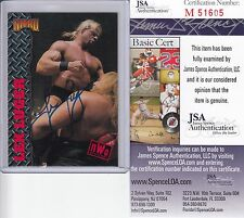 LEX LUGER SIGNED AUTOGRAPH AUTO TOPPS NITRO JSA CERTIFIED AUTHENTIC