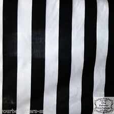 Black And White Stripe Fabric By The Yard Poly Cotton Fabric Wide Fabric Sewing