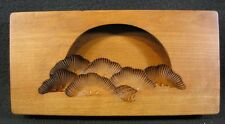 VINTAGE JAPANESE KASHIGATA PINE BOUGH UNDER FULL MOON CHERRYWOOD COOKIE MOLD