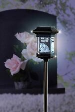 "14"" SOLAR LED PET MEMORIAL 3D CRYSTAL LIGHT - KITTY CAT"