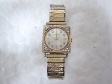 Longines Rare Vintage Solid 14K Yellow and White Gold Diamond Tuxedo Watch Mens