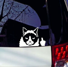 Grumpy Cat Vinyl Decal Sticker Car Helmets Window Wall Cartoon Meme Funny Laptop
