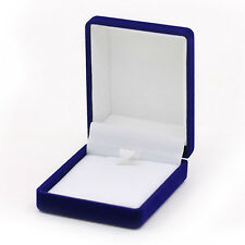 Classy Royal Blue Cotton Filled Box Necklace Gift Box Jewelry Boxes