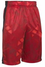 UNDER ARMOUR UA MEN'S 11-in. TRIANGLE O PRINTED SHORTS BLACK BLUE RED M L XL XXL