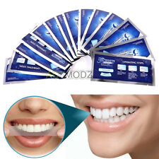 14 Set Crest White Teeth Whitening Strips Tooth Sticker Decal Oral Teeth Care