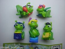 KINDER SURPRISE SET -  CRICKETS BAND MUSICAL 2013 FIGURES FIGURINES COLLECTIBLES