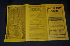 Ca 1935 1000 Island Cruise with Gloria III Clipper Ship of the St Lawrence