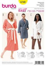 BURDA SEWING PATTERN SUPER EASY BATH ROBES SIZE 32 - 50   6740