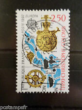 FRANCE 1992, timbre 2755, EUROPA, CHRISTOPHE COLOMB, CARTE, oblitéré