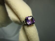 Antique Victorian Estate Ring~14K Yellow Gold~Large Purple Amethyst~Sz. 6.25