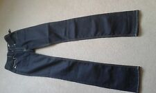 "MENS DIESEL BRUCKE VERY DARK BLUE/BLACK JEANS SIZE 27"" WAIST 35"" LEG"