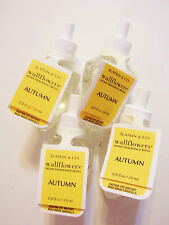 Bath Body Works, Slatkin Co., AUTUMN Wallflower Refill Bulbs, NEW x 4