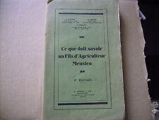 livre meuse ce que doit savoir un fils d'agriculteur meusien meuse agriculture