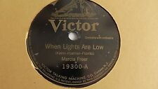 Marcia Freer – 78rpm single 10-inch –Victor #19300