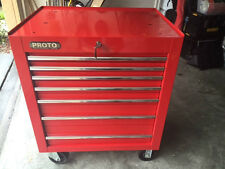 Proto J453441-7RD 7 Drawer Red Tool Box = MAC Great Condition! Must See Scans