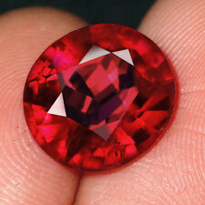 6.2CT Natural Mozambique Pigeon Blood Red Ruby Faceted  Cut QHBd80R