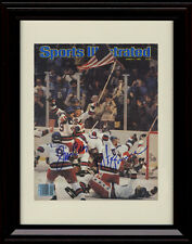 Framed 1980 Olympic Hockey SI Autograph Replica Print - Miracles Happen