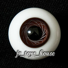 Extra High Grade & Quality Glass Eye 14mm Dark Brown Vein HG for MSD 1/4 Yosd