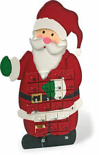 LARGE 56CM WOODEN SANTA FATHER CHRISTMAS ADVENT CALENDAR WITH GIFT DRAWERS 1863