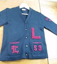 Authentic Vintage Varsity Letterman Sweater Lincoln High School Seattle Small