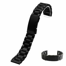 18/20/22mmStraight End Mens Solid Link Stainless Steel Metal Watch Band Bracelet
