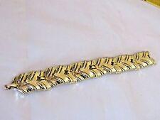 Vintage Signed Coro Gold Tone Link Bracelet