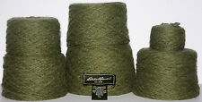 Recycled Yarn Wool Angora Blend Olive Green 12 oz 340g 1459 yds Straightened