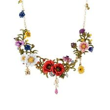 LES NEREIDES  WILD FLOWER I ELEMENTS OF A JAPANESE GARDEN COUTURE NECKLACE