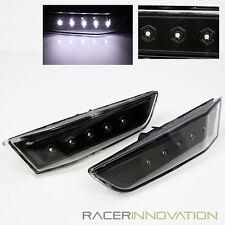 For 2003-2007 Infiniti G35 2DR Coupe Black Front Bumper 5 LED Side Marker Lights