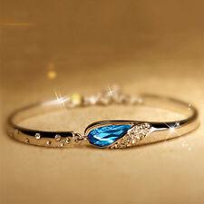 New Design Romantic Jewelry Women Crystal Bracelet Vintage 925 Silver Bracelet N