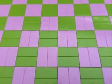 100 Lego Smooth Finishing Flat Tiles 1x2 Bricks 50 Lime Green 50 Pink Friends
