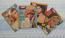 Lot de 4 anciens magazines Ciné monde, année 1962 old french magazine