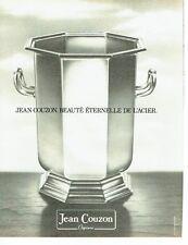 PUBLICITE ADVERTISING 0217  1981  Jean Couzon orfèvre   de l'acier