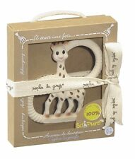 VULLI SOPHIE THE GIRAFFE SO PURE TEETHING RING IN GIFT BOX BN / BABY SHOWER