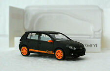 Wiking 7403 HO 1/87 Volkswagen Golf VI Matte Black/Orange C-9 Factory New In Box