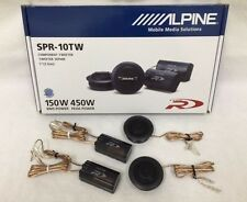 "ALPINE SPR-10TW 1"" Type-R Silk Dome Tweeter Set with Crossover Filters 450W New"