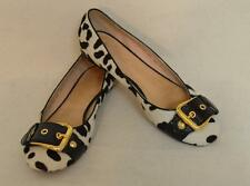 Guiseppe Zanotti Black & White Animal Print Ballet Flats Calf Hair US Size 9 EUC