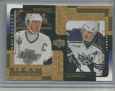 2000-01 UD Legends Legendary Collection Gold #61 Wayne Gretzky/Luc Robitaille