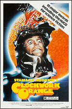 A CLOCKWORK ORANGE original 27x41 one sheet movie poster MALCOLM MCDOWELL