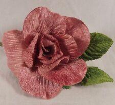 Velvet Rose Mauve Millinery Flower Crowns Corsage Wedding Crafts Wedding