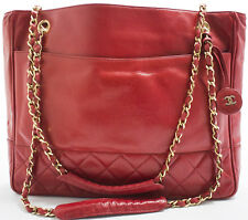 CHANEL Tasche Bag Shoulder Bag Shopper Schultertasche matelassé Rot Red Rouge