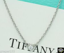 """GUARENTEED AUTHENTIC TIFFANY & CO. PLATINUM """"DIAMONDS BY THE YARD"""" Pendant .12TW"""